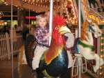 I cried because I wanted to ride the carousel.  See how happy I am now that I got my wish?