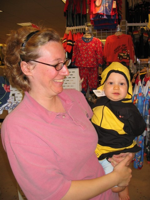 We took Mason shopping for Halloween outfits.  The time just seemed to drone on...